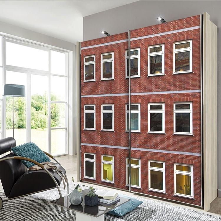 Αυτοκόλλητο Ντουλάπας Πρόσοψη κτιρίου γραφείων
