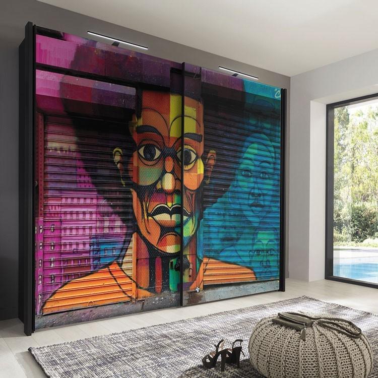 Αυτοκόλλητο Ντουλάπας Γκράφιτι τοίχου African