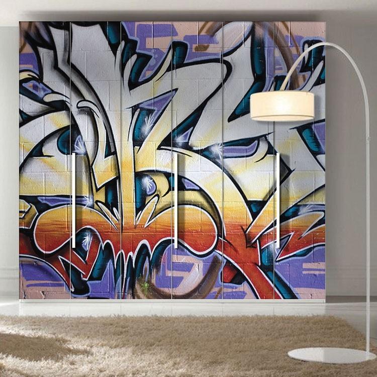 Αυτοκόλλητο Ντουλάπας Γκράφιτι