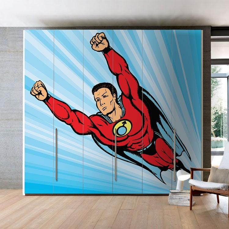 Αυτοκόλλητο Ντουλάπας Superman