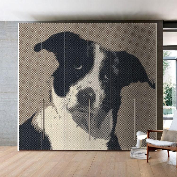 Αυτοκόλλητο Ντουλάπας Χαριτωμένος σκύλος