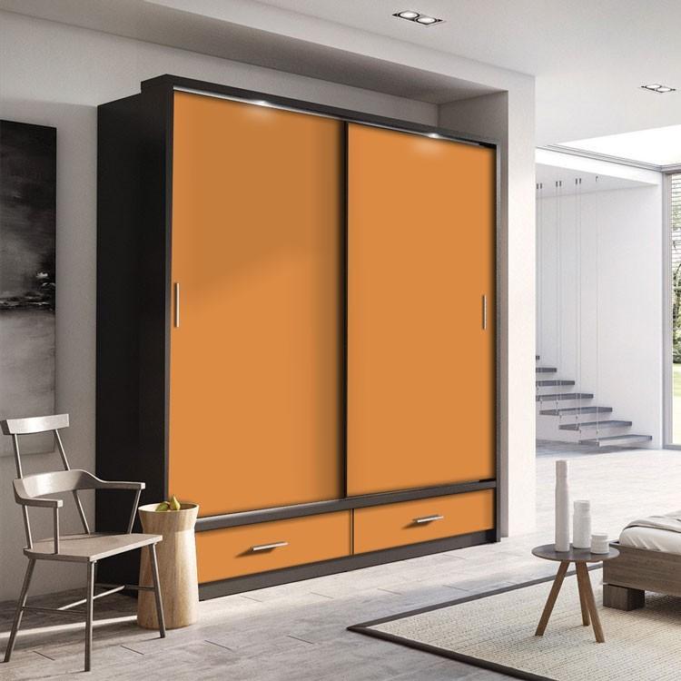 Αυτοκόλλητο Ντουλάπας Light-Orange