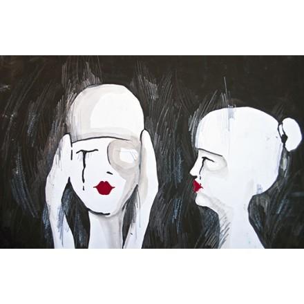 Αυθεντικός πίνακας δύο γυναικών