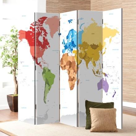 Πολύχρωμος Παγκόσμιος Χάρτης