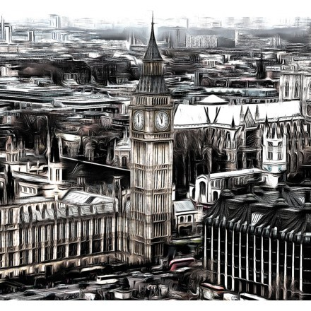 Vintage Picture of Big Ben