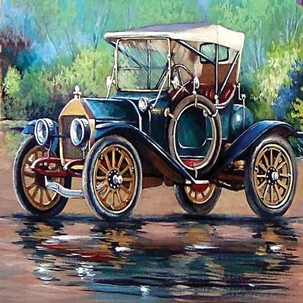 Ελαιογραφία Παλιού Αυτοκινήτου