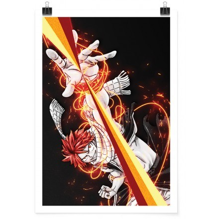 Natsu Dragneel exploding flame - Fairy Tail