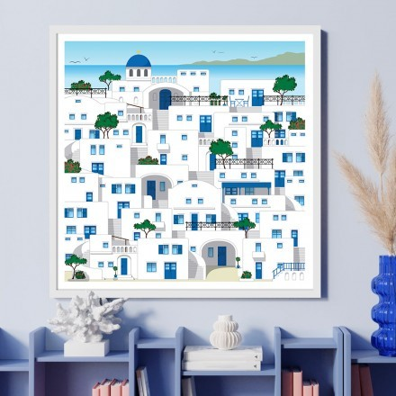 Νησιώτικα χρώματα κτιρίων