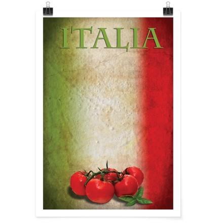Ντομάτες σε φόντο ιταλικής σημαίας