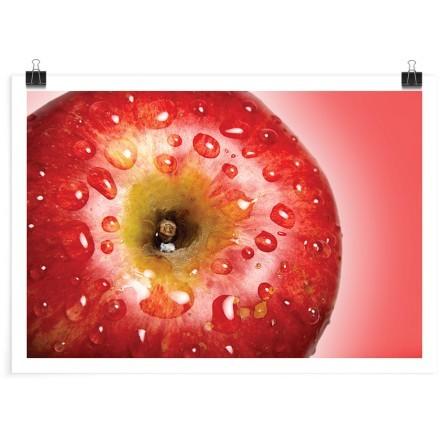 Κόκκινο βρεγμένο μήλο