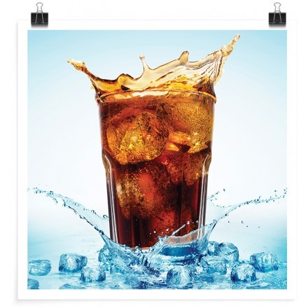Ποτήρι με coca-cola