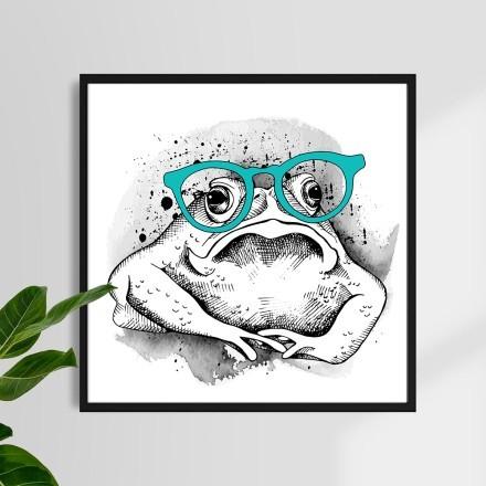 Βάτραχος με μπλε γυαλιά