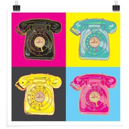 Χρωματιστό μοτίβο με τηλέφωνα