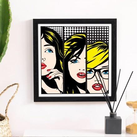 Τριπλή εικόνα κοπέλας