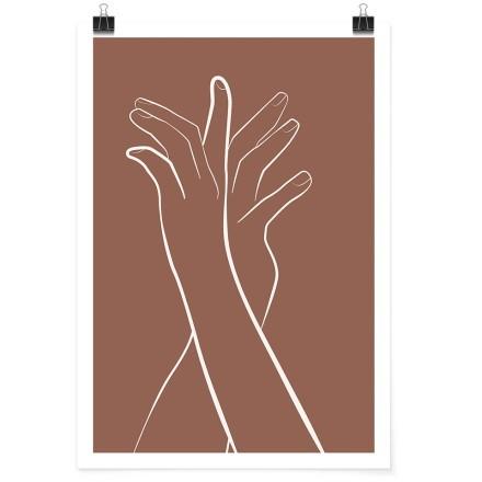 Γραμμικό σχέδιο χέρια