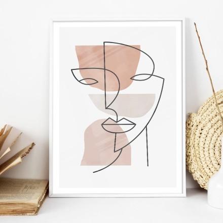 Γραμμικό πορτρέτο γυναίκας