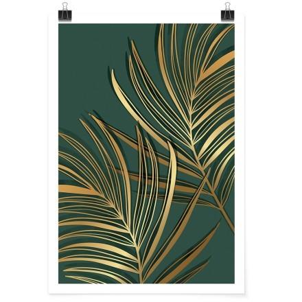 Χρυσά τροπικά φύλλα