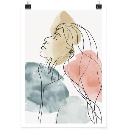 Κοπέλα με νερομπογιά