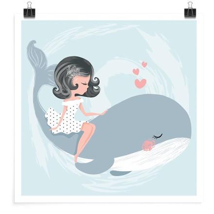 Κοριτσάκι πάνω στη φάλαινα