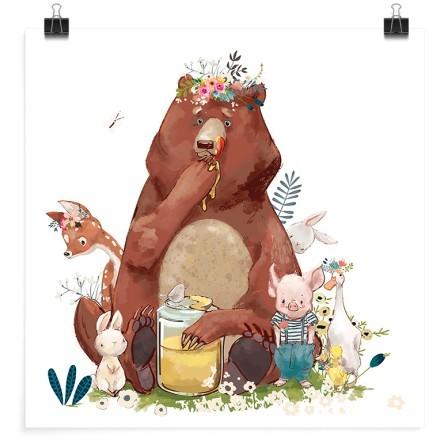 Χοντρούλης αρκούδος με μέλι