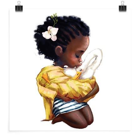 Κοριτσάκι φιλάει τη χήνα