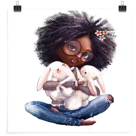 Μικρό κοριτσάκι με κουνέλια