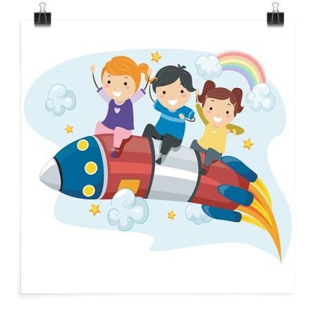 Παιδάκια πάνω στο πύραυλο