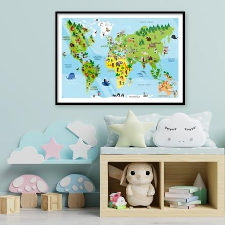 Παιδικός παγκόσμιος χάρτης