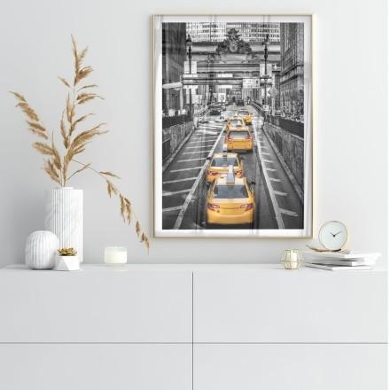 Δρόμος με κίτρινα ταξί στη Νέα Υόρκη