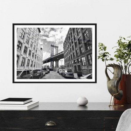 Δρόμος προς τη γέφυρα στο Μανχάταν, Νέα Υόρκη