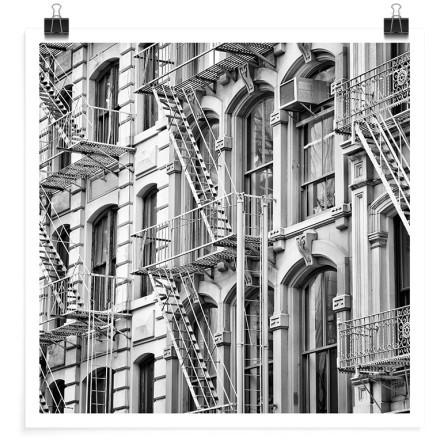 Σκαλοπάτια διαφυγής κινδύνου στη Νέα Υόρκη