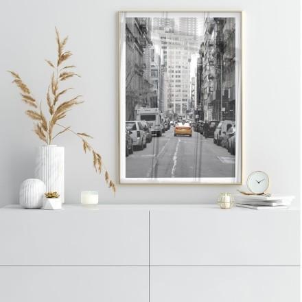 Κίτρινο ταξί σε δρόμο της Νέα Υόρκης