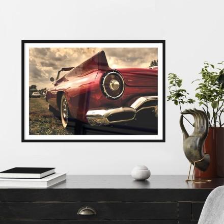 Παλιό κόκκινο αμάξι