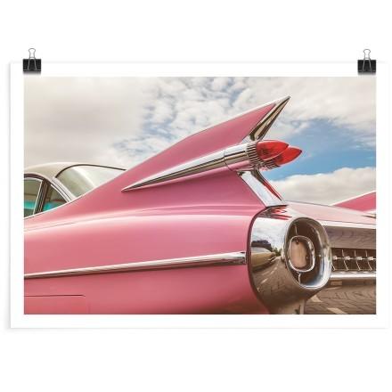 Ρετρό ροζ αμάξι