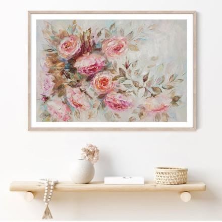 Μπουκέτο με ροζ τριαντάφυλλα