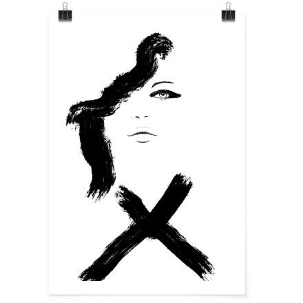 Μαύρο περίγραμμα κοπέλας