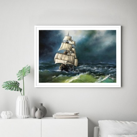 Καράβι στη φουρτουνιασμένη θάλασσα