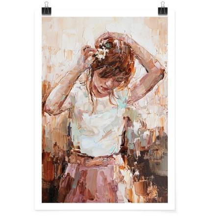 Κορίτσι ελαιογραφία