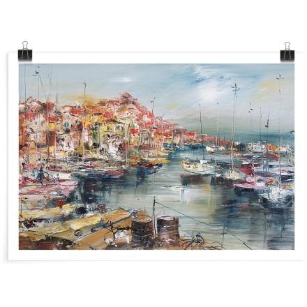 Ελαιογραφία στο λιμάνι