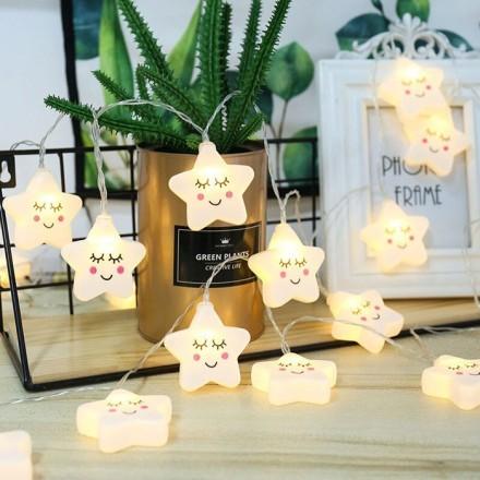 Cute Φωτάκια Led Αστεράκια Με USB 3m