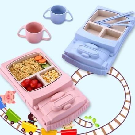 Train Σετ Φαγητού Μωρού Σε Σχήμα Τρένο 30.6x19.5x5cm