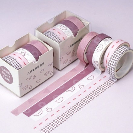 Design Χρωματιστή Ταινία Διακόσμησης Σετ 5 Τεμαχίων 1x200cm