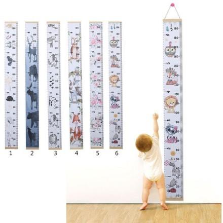 Skyscraper Μετρητής Ύψους Για Παιδιά Από Ύφασμα Και Ξύλο 2x0,21m