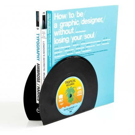 Vinyl Πλαστικός Βιοβλιοστάτης Μαύρος Σετ 2 Τεμαχίων 17,5x13,4cm