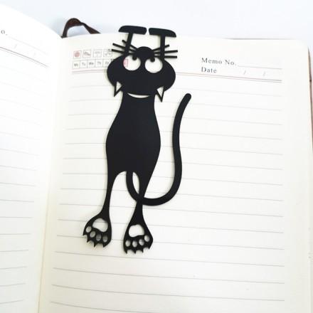 Kitty Σελιδοδείκτης Ακρυλικός Μαύρος 4,3x12,3cm