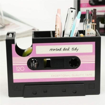 Cassette Μολυβοθήκη Με Θήκη Για Σελοτέιπ 16,8x11x5,2cm