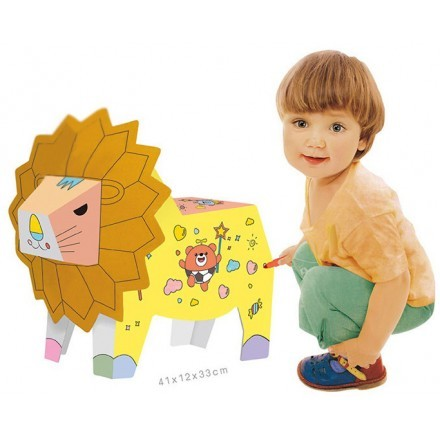 Lion DIY Doodle Χάρτινο Ζωάκι Για Ζωγραφική