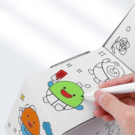 Elephant DIY Doodle Χάρτινο Ζωάκι Για Ζωγραφική