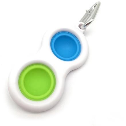 Bubble Pop It Κρεμαστό Παιχνίδι Σιλικόνης 15g 8x4cm