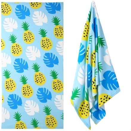 Frio Παιδική Πετσέτα Θαλάσσης Με Ανανάδες Γαλάζιο Κίτρινο 75x149cm